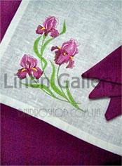 фиолетовая льняная скатерть